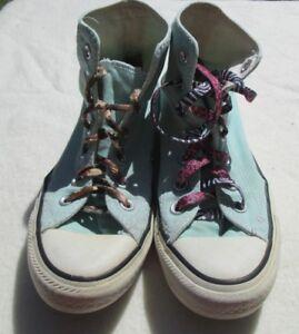 unisex de de Vtg zapato Taylor Hi Pale Converse deporte Chuck Blue Zapatillas 4 talla E4qxdwU6E