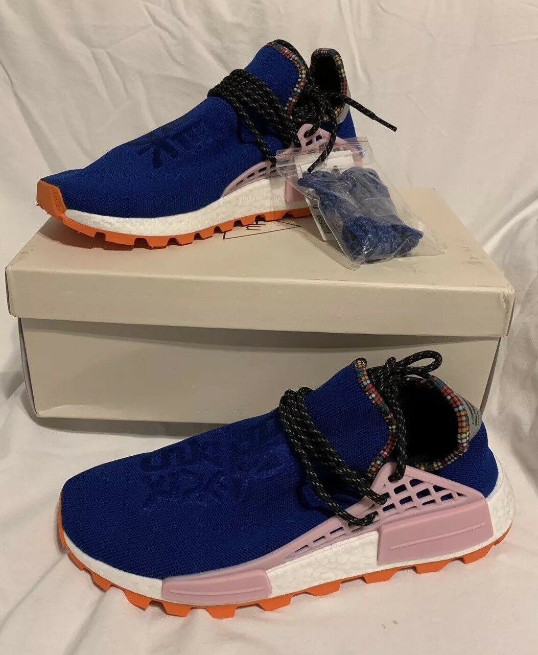 Adidas x Pharrell Williams Solar HU NMD bluee Size UK 9 EU 43 US 9.5 EE7579 BNIB