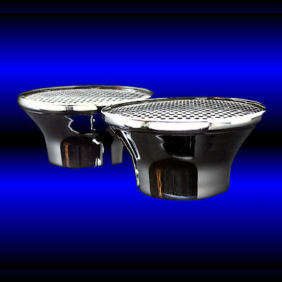 Dual Velocity Stack Air Cleaners For Oldsmobile 330 350 455 Chrome Olds