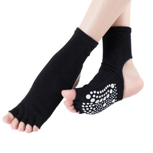Backless Toeless Fitness Ballet Dance Pilates Anti Slip Home Women Yoga Socks
