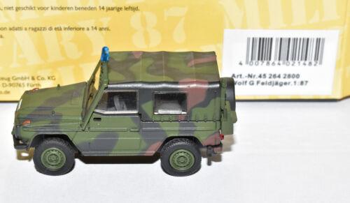 Feldjäger Bw Bundeswehr NEU /& OVP Schuco H0 45 264 2800 Lkw leicht 250 GD Wolf