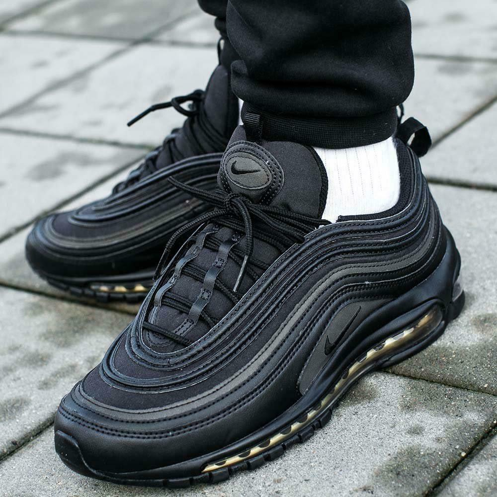 Porque Literatura operación  Nike Air Max 97 Premium PRM SE Black Metallic Gold UK 9 US 10 EU 44 Aa3985  001 for sale online | eBay