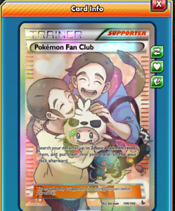 2x Pokemon Fan Club for Pokemon TCG Online DIGITAL ptcgo in Game Card