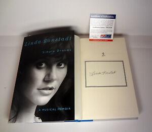 Linda-Ronstadt-Signed-Autograph-Simple-Dreams-1st-Edition-Book-PSA-DNA-COA