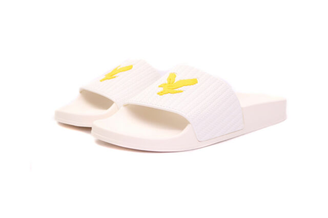 8c74ff2da17e Lyle   Scott Thomson Beach Gym Slides in White New Season SALE