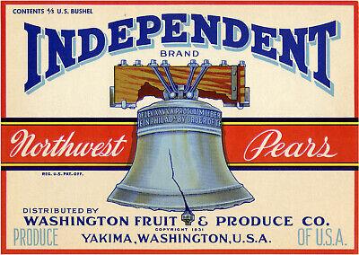 FRUIT BOWL Vintage Northwest Pear Crate Label **AN ORIGINAL FRUITCRATE LABEL**