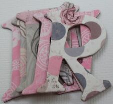 Daisy Bucket  ~BUTTERCUP~ Alphabet Chipboard Letters  /& Die Cuts 1.5/""