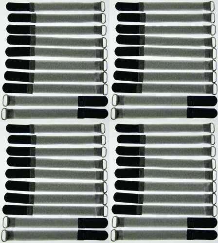 20x velcro-bridas FK 50cm x 50mm verde flúor cable-velcro cintas cable-cinta de velcro