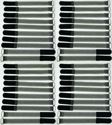 40 x câble-velcro FK 16cm x 16mm noir velcro bandes câble velcro serre-câbles