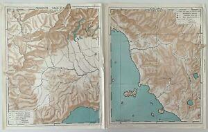 Toscana Cartina Muta.Italia Lotto N 2 Mappe Carta Muta Di Piemonte Valle D Aosta E Toscana Cartine Ebay