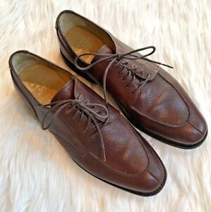f91159d917e Brooks Brothers PEBBLE BROWN LEATHER Work Shoe MEN US Size 10.5 Lace ...