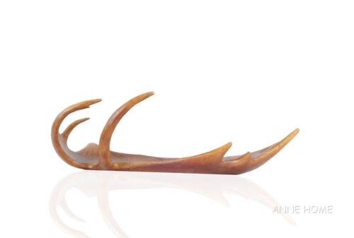 "Rustic Moose Antler Tray Figurine 23/"" Fruit Bowl Centerpiece Faux Lodge Decor"