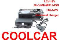 Battery Charger for Hitachi 7.2V 9.6V 12V 14.4 18V Ni-MH Li-ion 240V UC18YRL OZ