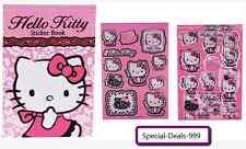 9 teiliges Hello Kitty Schreibset / Notizbuch / Wachsmalstift / Stifte / Sticker