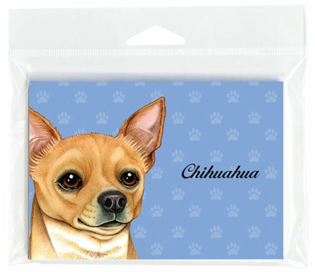 Chihuahua Dog Note Cards Set of 8 with Envelopes Tan