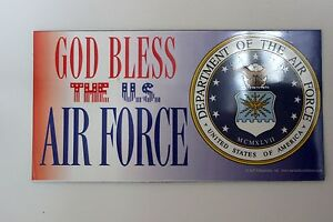 New-God-Bless-United-States-Air-Force-Car-Magnet-Made-In-The-USA-Military-Airmen