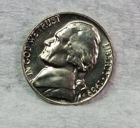 1969-S 5C Jefferson Nickel