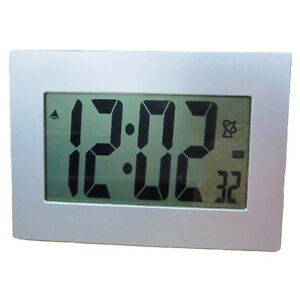Extra Large Lcd Display Atomic Table Wall Alarm Clock