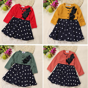 Baby-Girl-Clothes-Toddler-Kids-Long-Sleeve-Party-Dress-Tutu-Clothing-T-shirt-Top