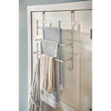 Over the Door Towel Rack Bathroom Shelf Organizer Holder Bath Storage Triple