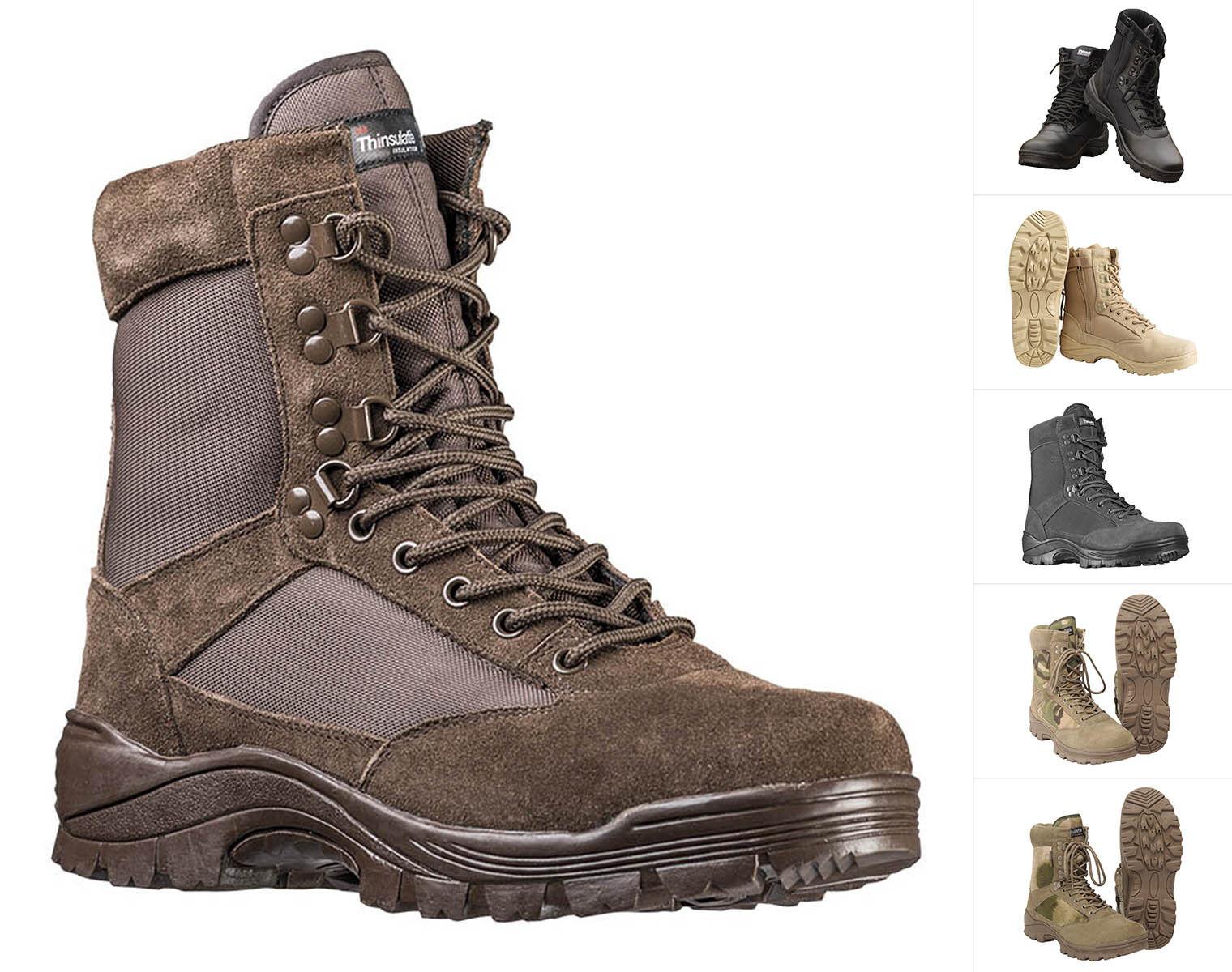 Mil-Tec Tactical Stiefel mit YKK Reißverschluss Schuhe Lederstiefel Stiefel 38-48
