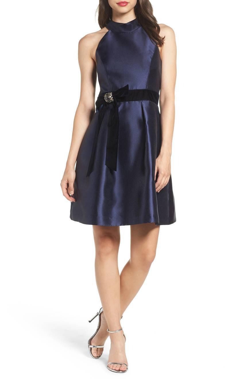 Eliza J Halter Fit & Flare Dress (size 8)