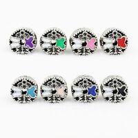 Fine 2pcs Butterfly Paint Big Hole Macroporous Bead Fit European Charm Bracelet