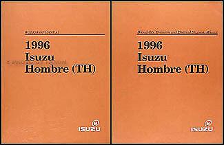 1996 isuzu hombre wiring diagram 1996 isuzu hombre original shop manual 2 volume set repair service  1996 isuzu hombre original shop manual