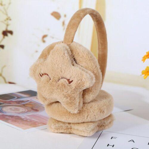 Star Sharp Smiley Face Plush Earmuffs Soft Thick Warm Ear Cover Kids Winter Cute