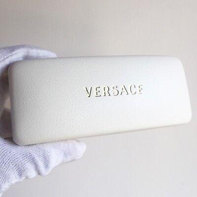 Ordinato Fodero Occhiali Da Sole Custodia Versace Box Sunglasses Hard Case White Vintage Irrestringibile