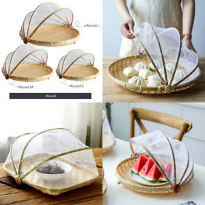 Bamboo-Fruit-Basket-Wooden-Fruit-Bowl-with-Mesh-Cover-Protects-Food-From-Insects