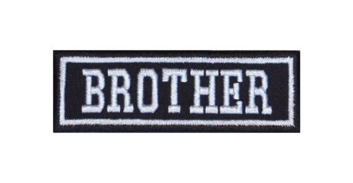 BROTHER Biker Patch ricamate moto MC Rocker STAFFA immagine tonaca Heavy Hood