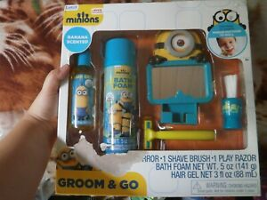CLOSEOUT-SALE-Imported-From-USA-Minions-Groom-amp-Go-Banana-Scented-Set
