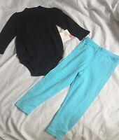 Baby Clothes Starting Out 18m Bodysuir Pants 2 Pc Set Black Blue