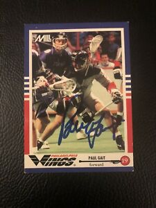 Paul-Gait-Rare-Signed-MILL-Card-1992-Natasi-Detroit-Turbos-Syracuse-Lacrosse-RC