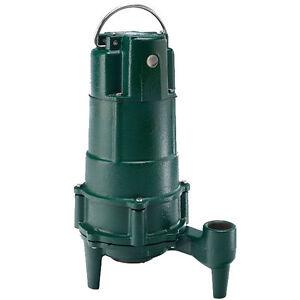 Zoeller N807 1 Hp Cast Iron Residential Grinder Pump 1