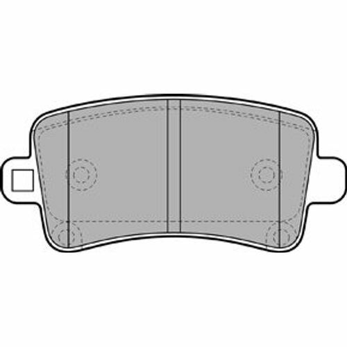 4x Bremsbeläge Bremsbelagsatz Bremsklötze Hinten Hinterachse //// OPEL //// SAAB