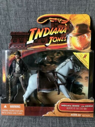 Sealed Box!! Indiana Jones with Horse Raiders of the Lost Ark 2008 New!
