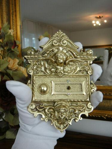 Türklingel Türglocke Klingelschild Messing Antik Jugendstil Barock Klingel Gold