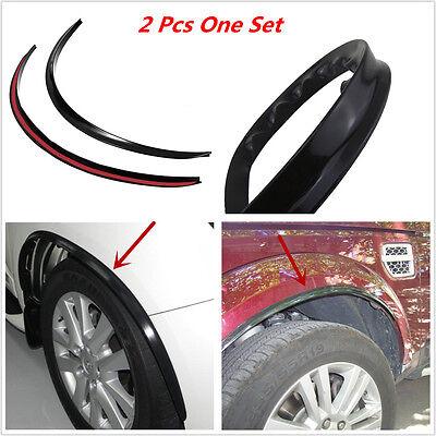Black 2pcs Anti-Scratch Wheel Eyebrow Protector Sticker Soft Strip Wheel-arch