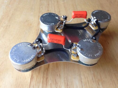 50/'s Wiring Harness Gibson Epiphone Les Paul 500k CTS Pots .022 Orange Drop Cap