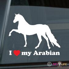 I Love my Arabian Sticker Die Cut Vinyl Arab Horse