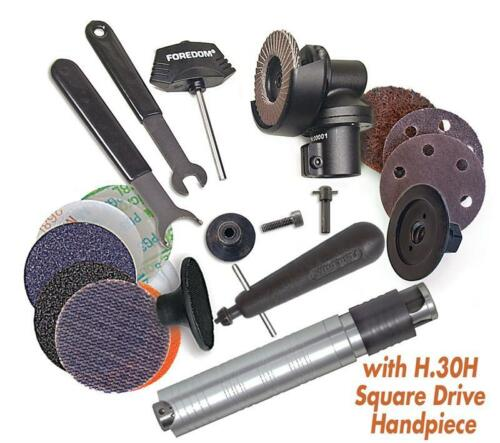 Foredom Ak69130H 2 Angle Grinder Kit With #30H Square Drive Handpiece + Access
