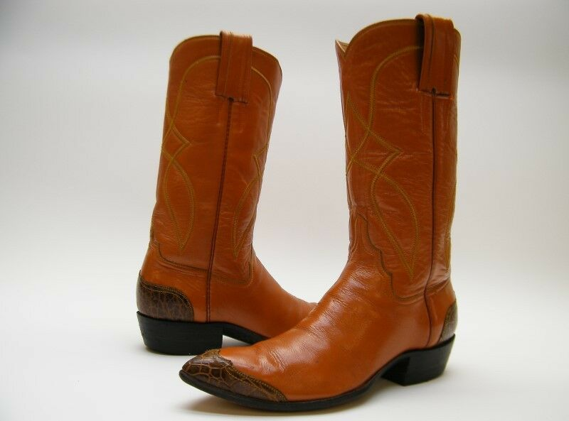 Damenschuhe VINTAGE WINGTIP Stiefel BROWN LEATHER COWBOY WESTERN Stiefel WINGTIP SZ 5 B 5B 28ebc7