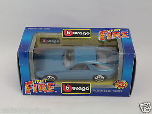 BBURAGO-BURAGO-1-43-STREET-FIRE-COLLECTION-4191-PORSCHE-928-BLUE-NEW-PF3-41