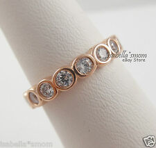 2a235c9c3 item 3 ALLURING BRILLIANT Pandora ROSE GOLD Plated CLEAR CZ Stones Band RING  8.5/58 NEW -ALLURING BRILLIANT Pandora ROSE GOLD Plated CLEAR CZ Stones  Band ...