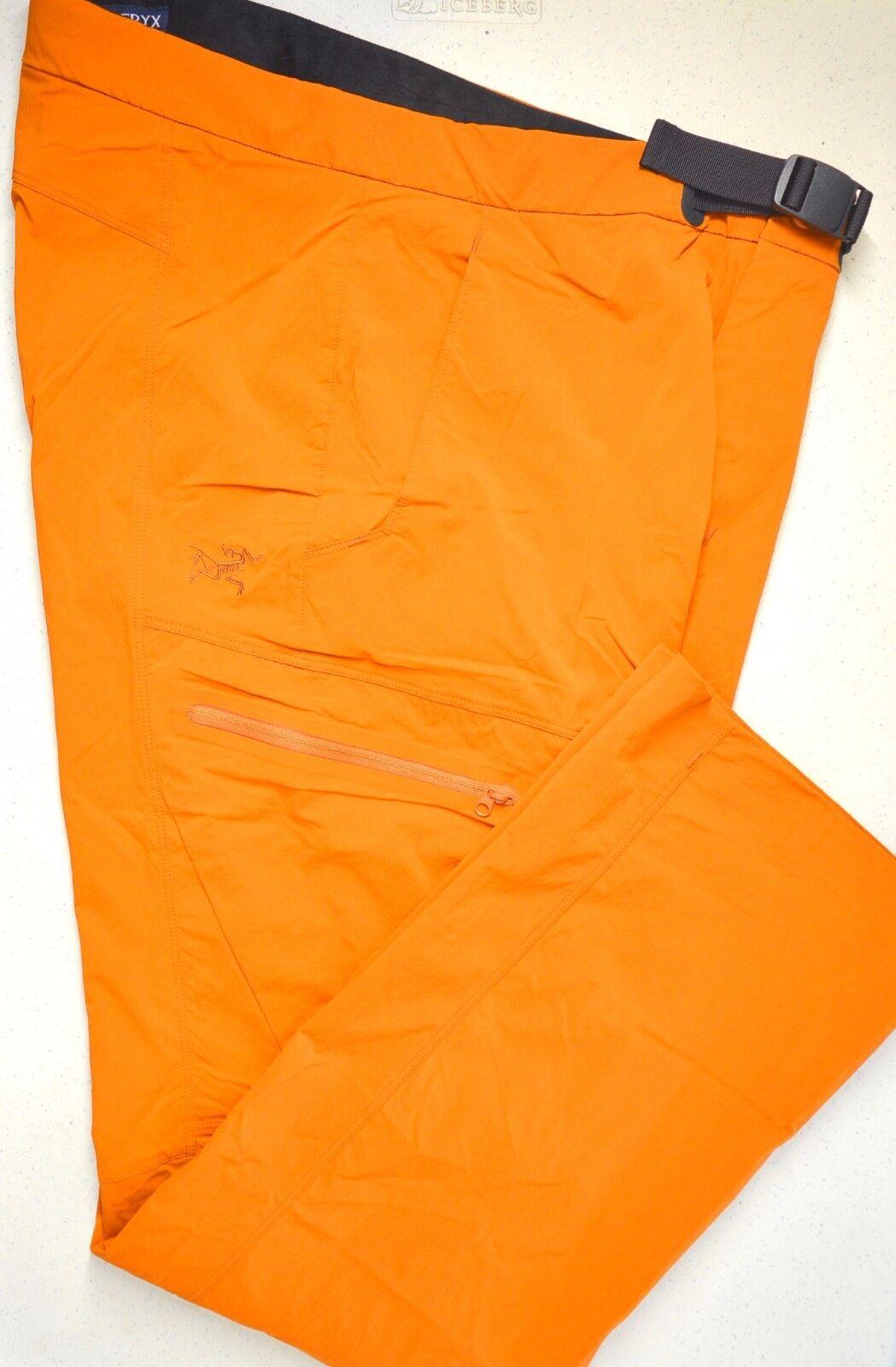 ARC'TERYX Palisade Lightweight Water Repellant Men's Pants Umber 34W X 32