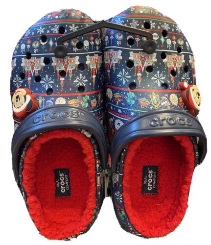 Disney Holiday Christmas 2020 Crocs Adult Size Men 6 Women 8