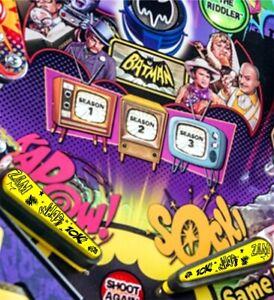 Pinball Flipper Acción! - Bat Topper mods (juego de 2) De Batman 66 Pinball