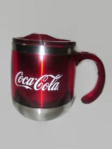 Coca-Cola Thermal Metal Coffee Cup Mug with Lid  - BRAND NEW